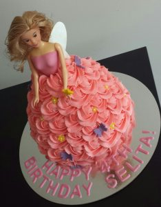 The Fairy Doll cake - action shot.