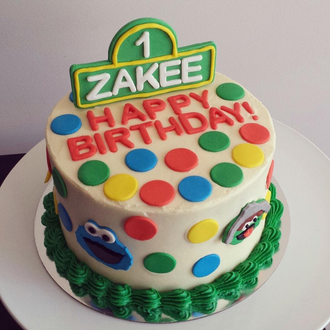 The EggFree Sesame Street Cake Anita of Cake