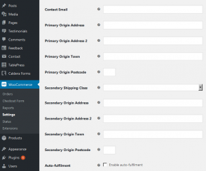 Updated SmartSend plugin settings page