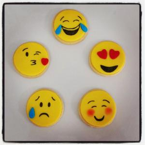 Emoji fondant sugar cookies