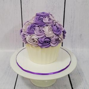 Shades of purple giant cupcake