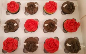 Ferdinand themed cupcakes