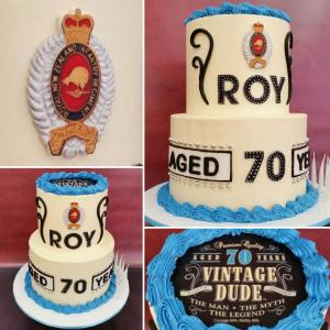 Vintage Dude themed cake