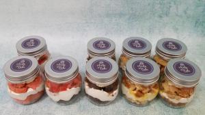 Mix of cake jars