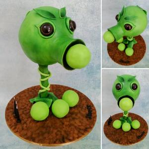 Anti-gravity Peashooter cake