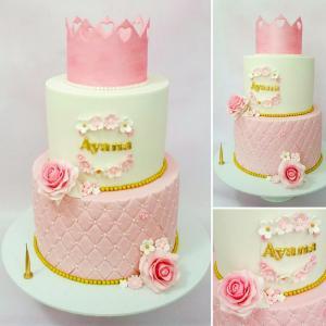 Princess-themed birthday cake
