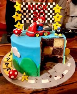 Mario Kart cake - Surprise Inside Checkerboard