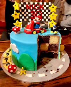 Mario Kart cake - Surprise Inside Checkerboard