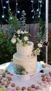 The garden wedding cake