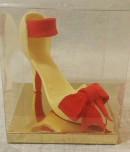 White chocolate Louboutin inspired heel