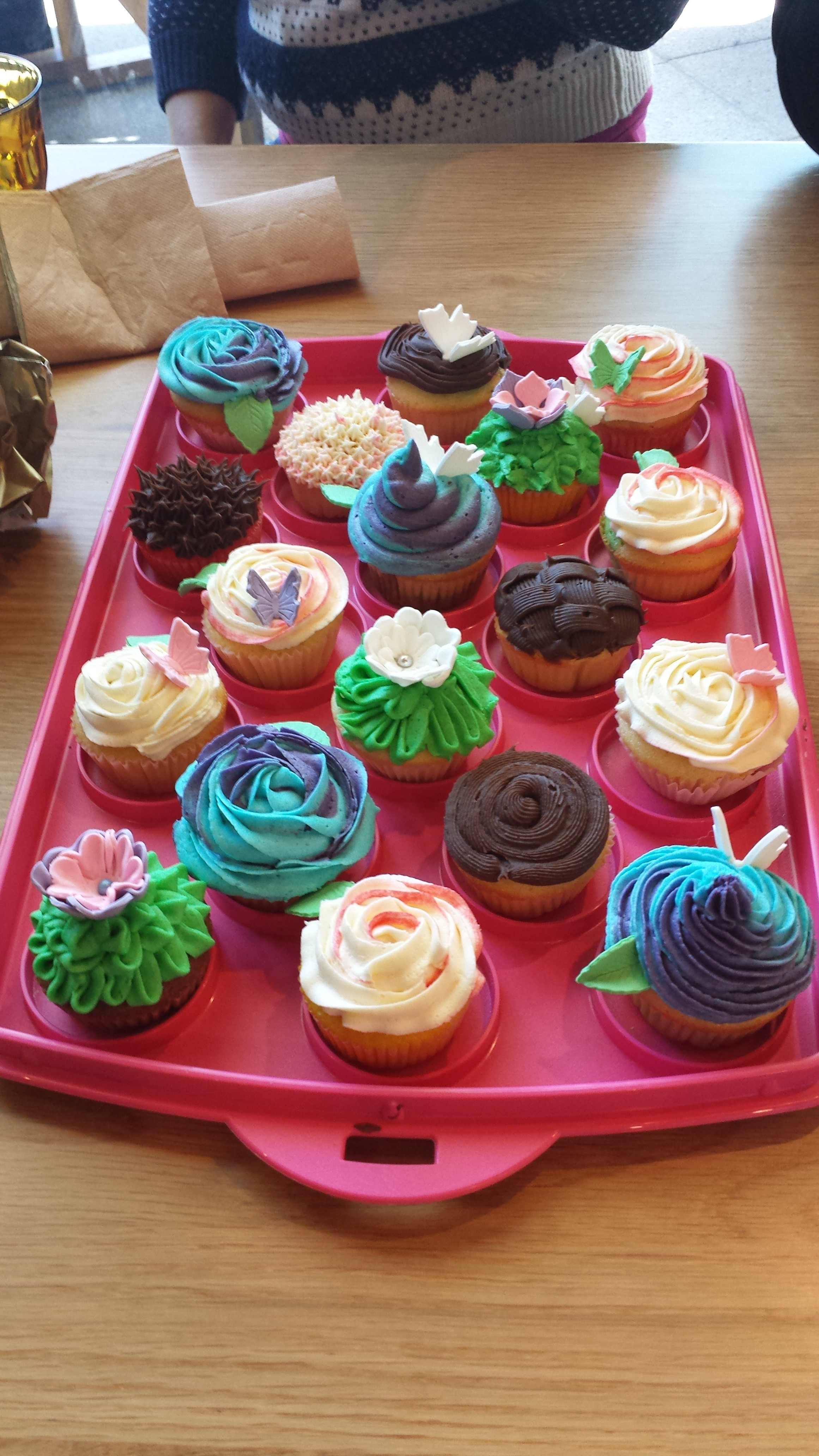 Birthday cupcake selection