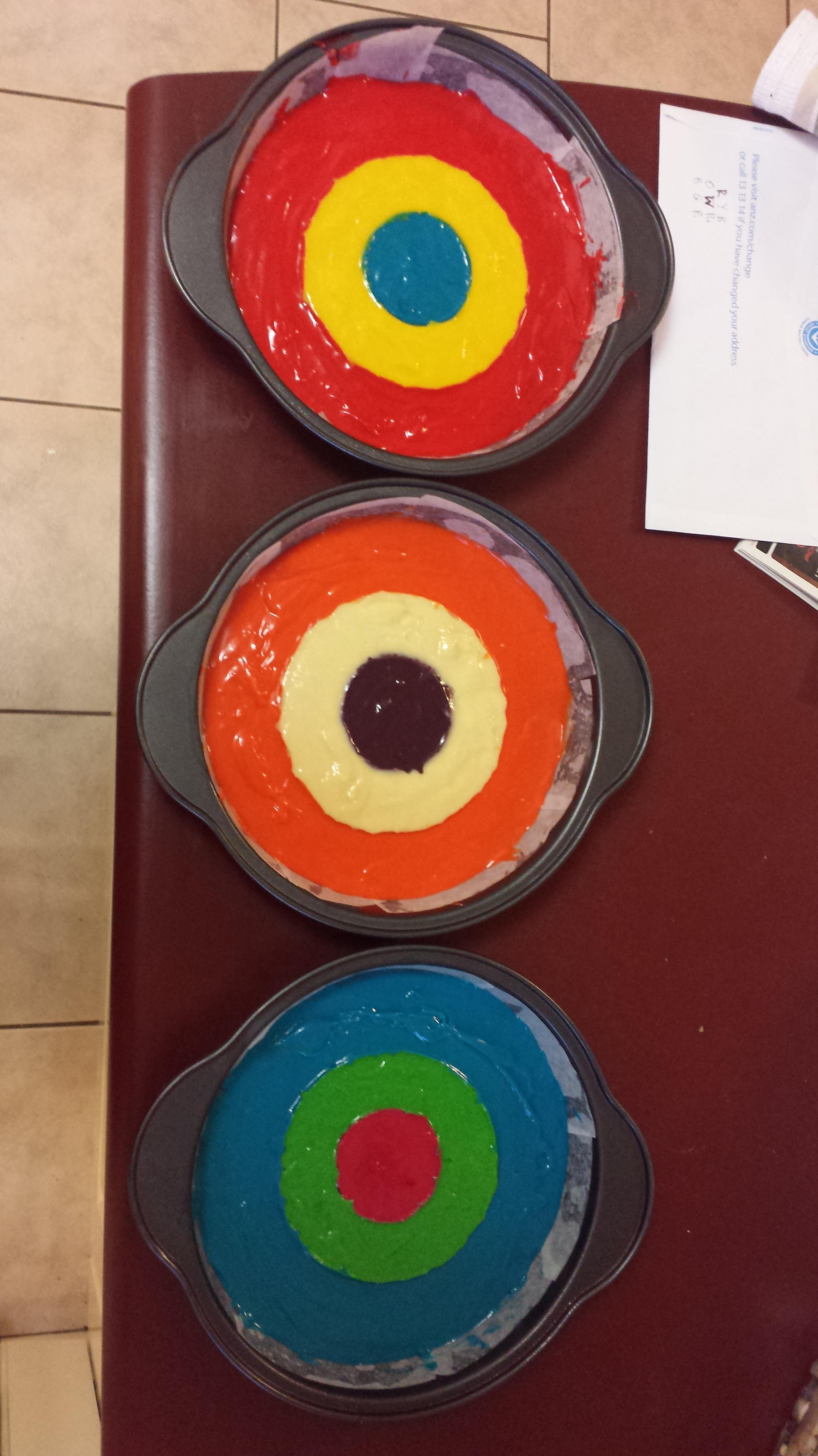 Cake batter pans