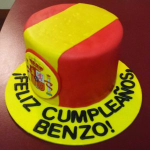 Spanish themed birthday cake
