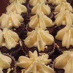 Chocolate Mini Cupcakes - with Vanilla Buttercream