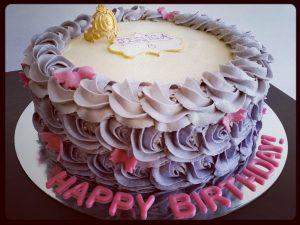 The Ombre Rosette Cake