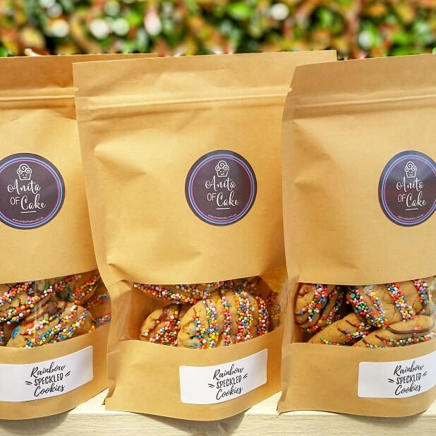 Rainbow Speckled Cookies