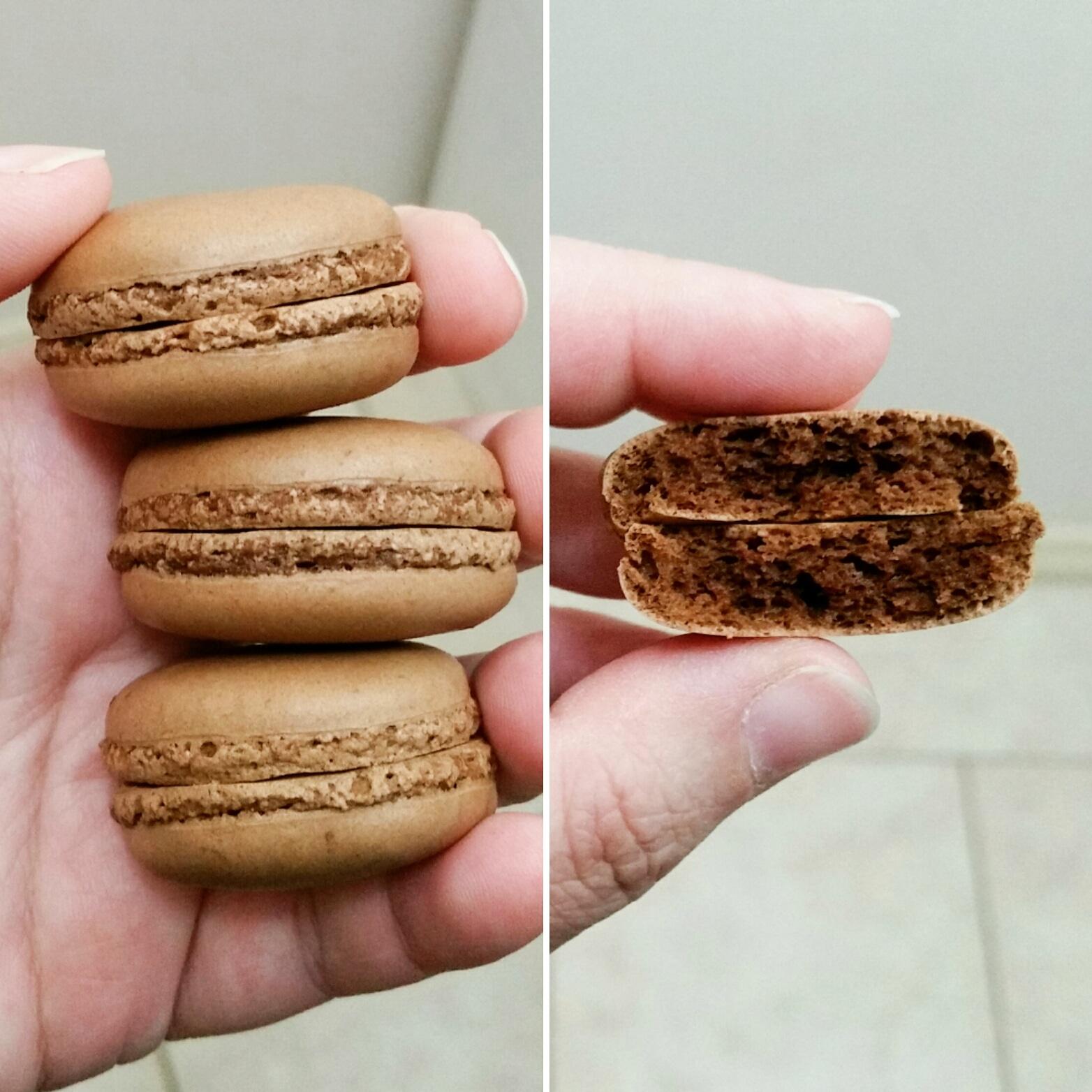 Full chocolate macaron shells