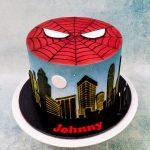 Spiderman airbrush cake