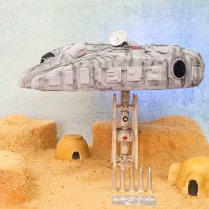 Anti-gravity Millennium Falcon Cake