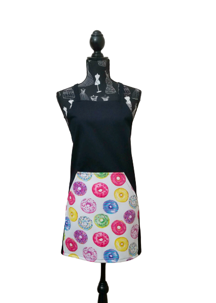 Donuts with black standard apron