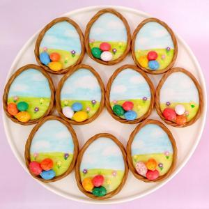 Handpainted watercolour sugar cookies