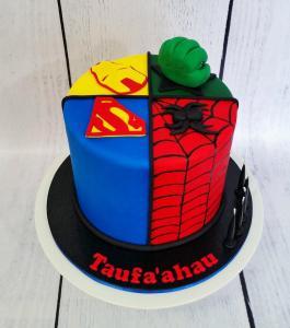 Superhero quarter cake