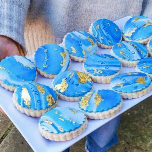 GF Sugar Cookies with gold leaf