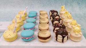 """""""At The Movies"""" themed macarons donated for Sweet Charitea event."""