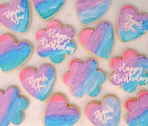 Embossed sugar cookies