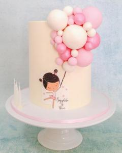 Ballerina and balloons cake
