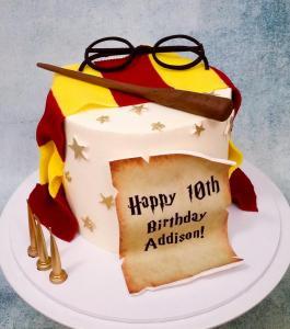 Egg-free Harry Potter cake