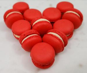 Red macaron heart