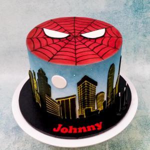 Spiderman themed cake